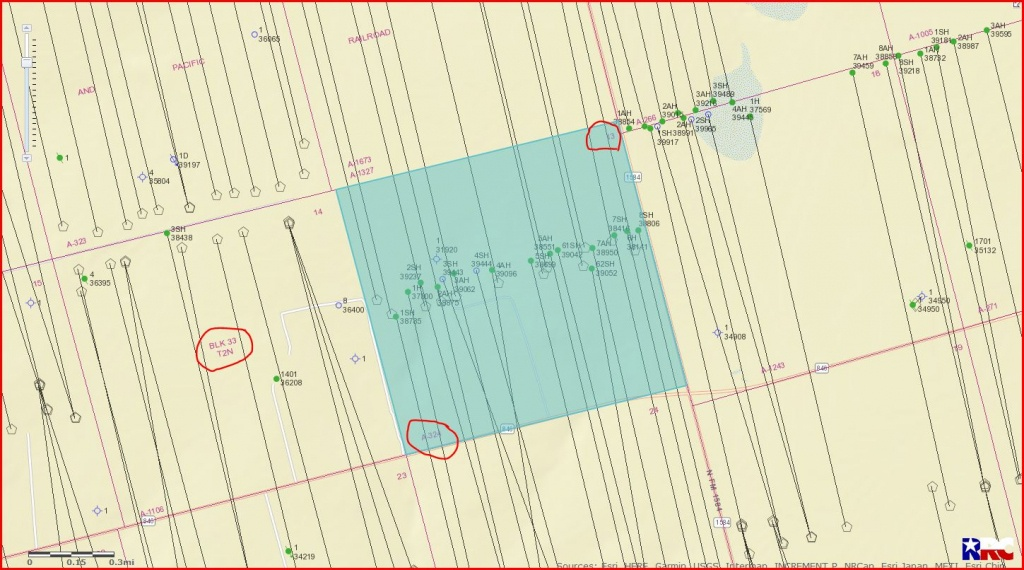 Section 13 Block 33 Township 2N - Howard County, Tx - Mineral Rights - Howard County Texas Section Map