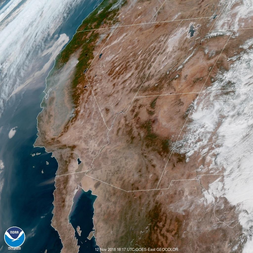 See What California Wildfire Smoke Looks Like From Space   Time - California Wildfire Satellite Map