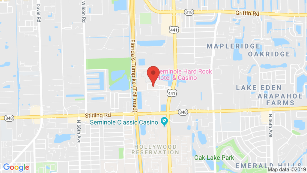 Seminole Hard Rock Hotel And Casino In Hollywood, Fl - Concerts - Map Of Seminole Casinos In Florida