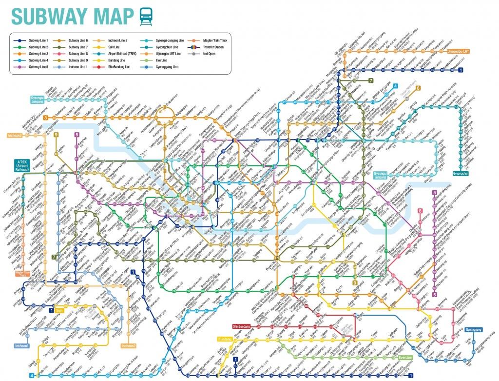 Seoul Subway Map - Printable Seoul Subway Map
