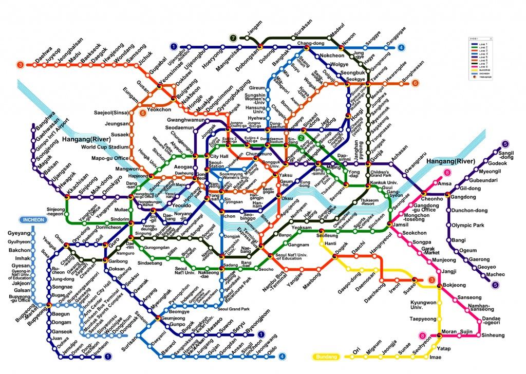 Seoul Subway Metro Map English Version (Updated) - Printable Seoul Subway Map