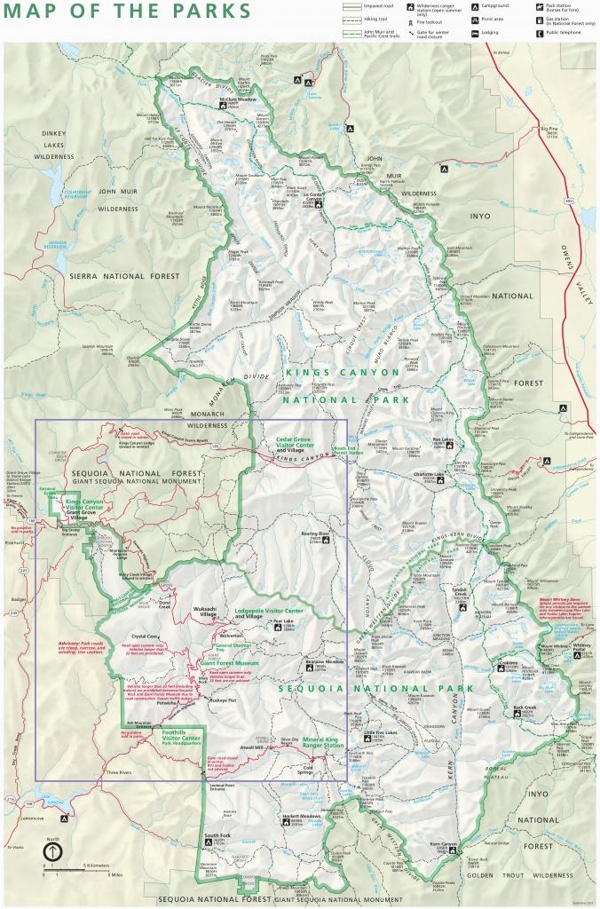 Sequoia National Park Map California Kings Canyon National Park - Sequoia Park California Map