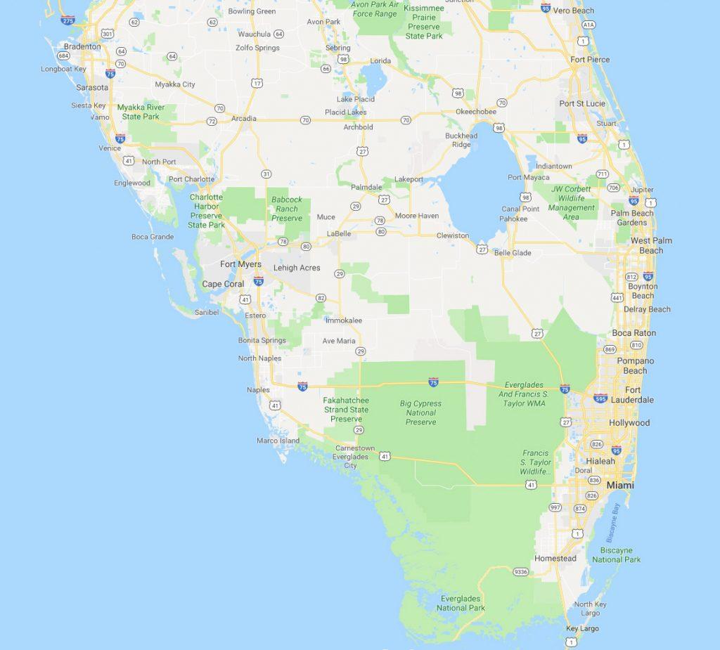 service area in south florida   palm beach - broward