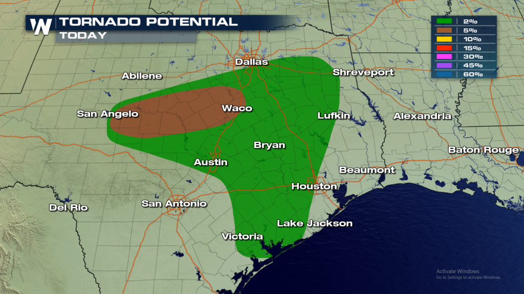Severe Storms, Tornadoes, And Flooding Threats In Texas - Weathernation - Waco Texas Weather Map
