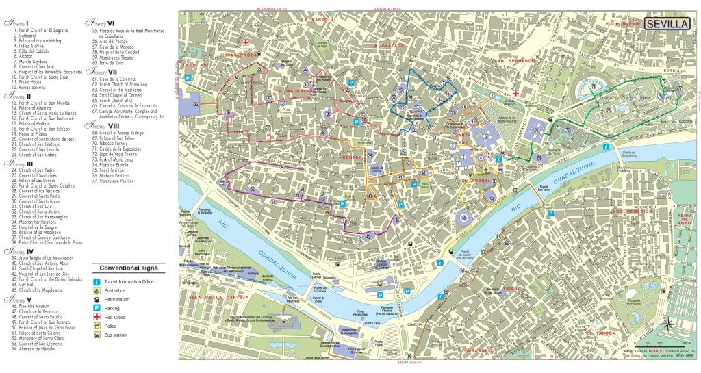 Seville Maps | Spain | Maps Of Seville (Sevilla) - Printable Tourist Map Of Seville