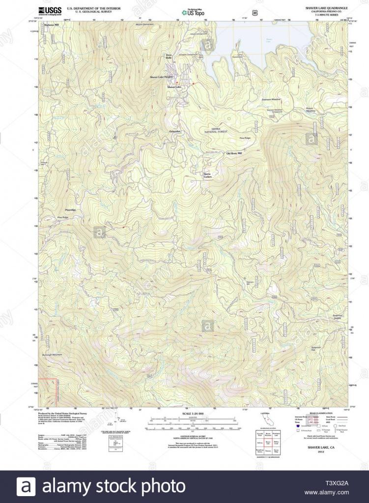 Shaver Lake California Stock Photos & Shaver Lake California Stock - Shaver Lake California Map