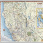 Shell Highway Map Of California (Northern Portion).   David Rumsey   California Atlas Map