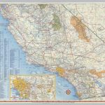 Shell Highway Map Of California (Southern Portion).   David Rumsey   California Road Atlas Map