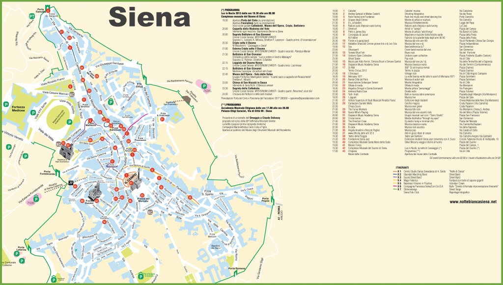 Siena Tourist Attractions Map - Sienna Texas Map