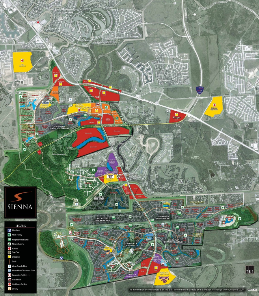Sienna Commercial Development Off Of Sienna Parkway & Mckeever Road - Sienna Texas Map
