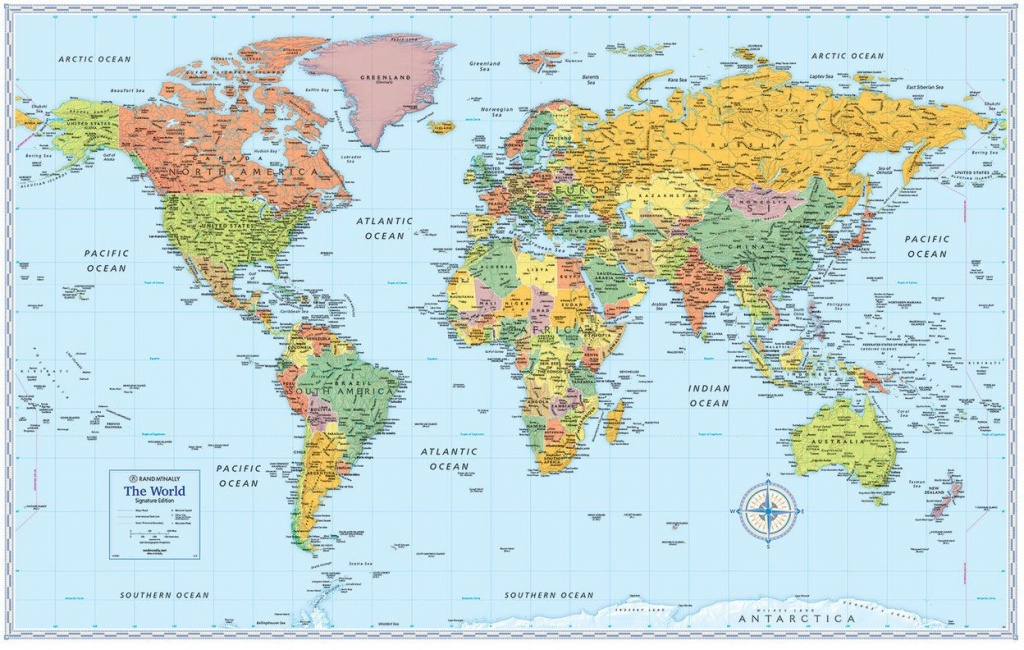 Signature Edition World Wall Maps In 2019 | Moon | World Map Poster - Free Printable World Map Poster