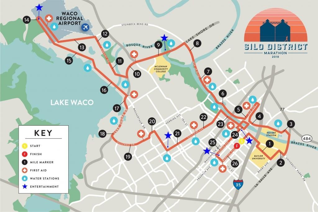 Silo District Marathon Map - Full Marathon Waco | Magnolia - Google Maps Waco Texas