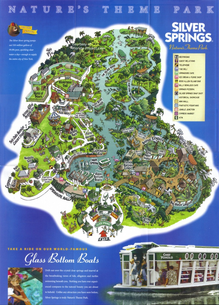 Silver Springs Brochures And Vacation Guide - Silver Springs Florida Map