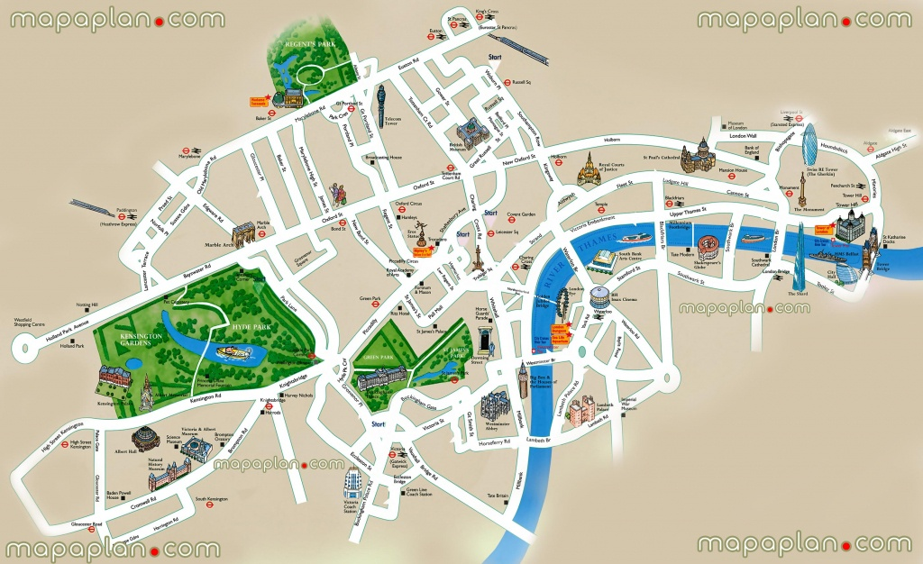 Simple Map Of London | Travel Maps And Major Tourist Attractions Maps - Printable Children's Map Of London