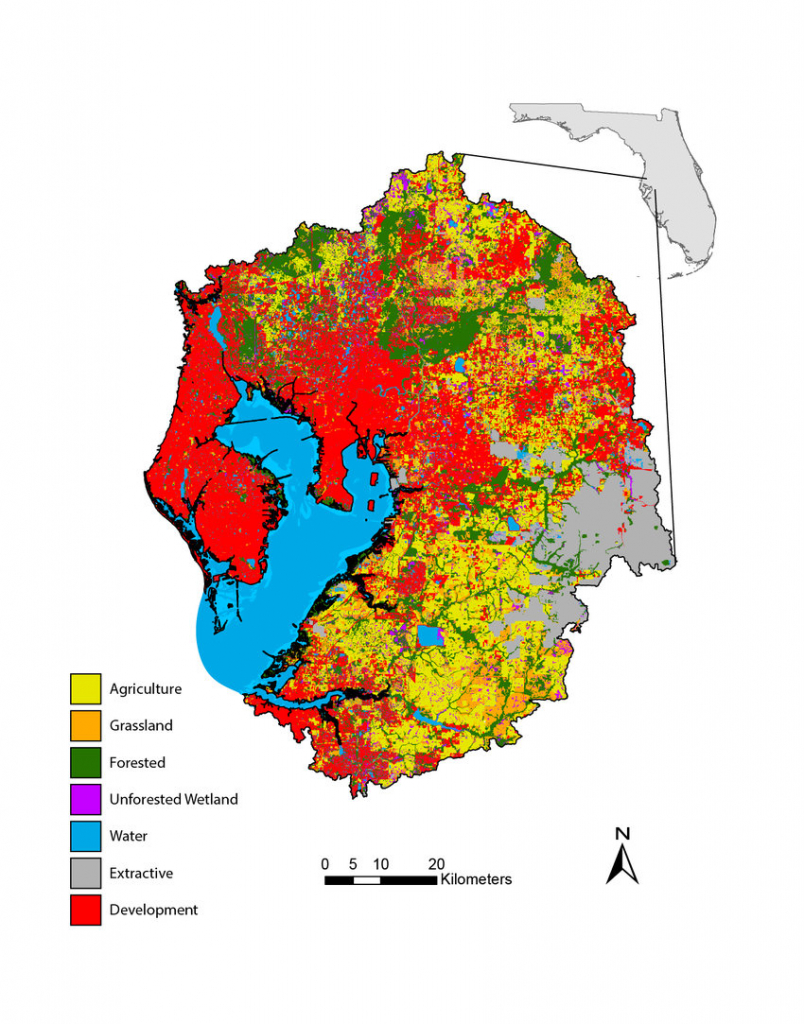 Simplified Florida Land Use/cover Classification System Map For The - Florida Wetlands Map