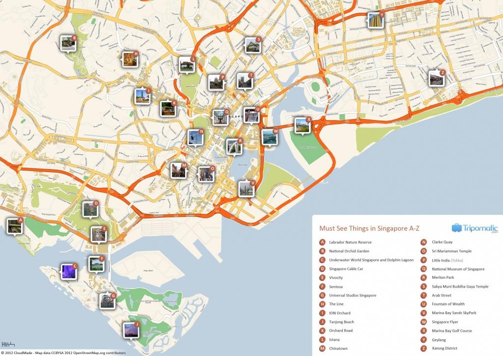 Singapore Printable Tourist Map In 2019   Free Tourist Maps - Melaka Tourist Map Printable
