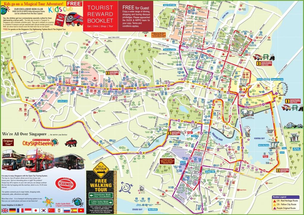 Singapore Tourist Map - Singapore City Map Printable
