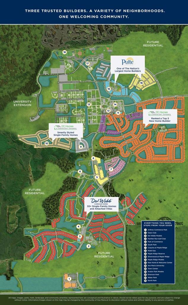 Site Plan - Ave Maria - Ave Maria Florida Map