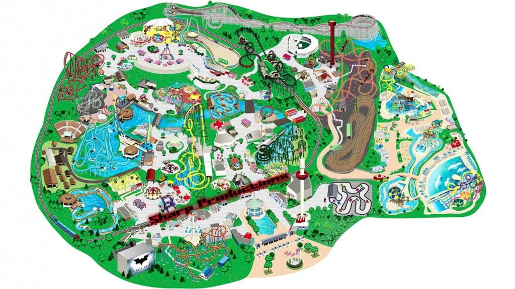 Six Flags Great America (Interactive Map!) - Youtube - Six Flags Map California 2018