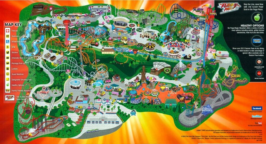 Six Flags Magic Mountain | Six Flags Magic Mountain Dc Universe - Six Flags Map California 2018