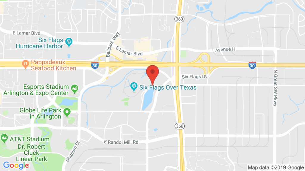 Six Flags Over Texas In Arlington, Tx - Concerts, Tickets, Map - Texas Map Directions