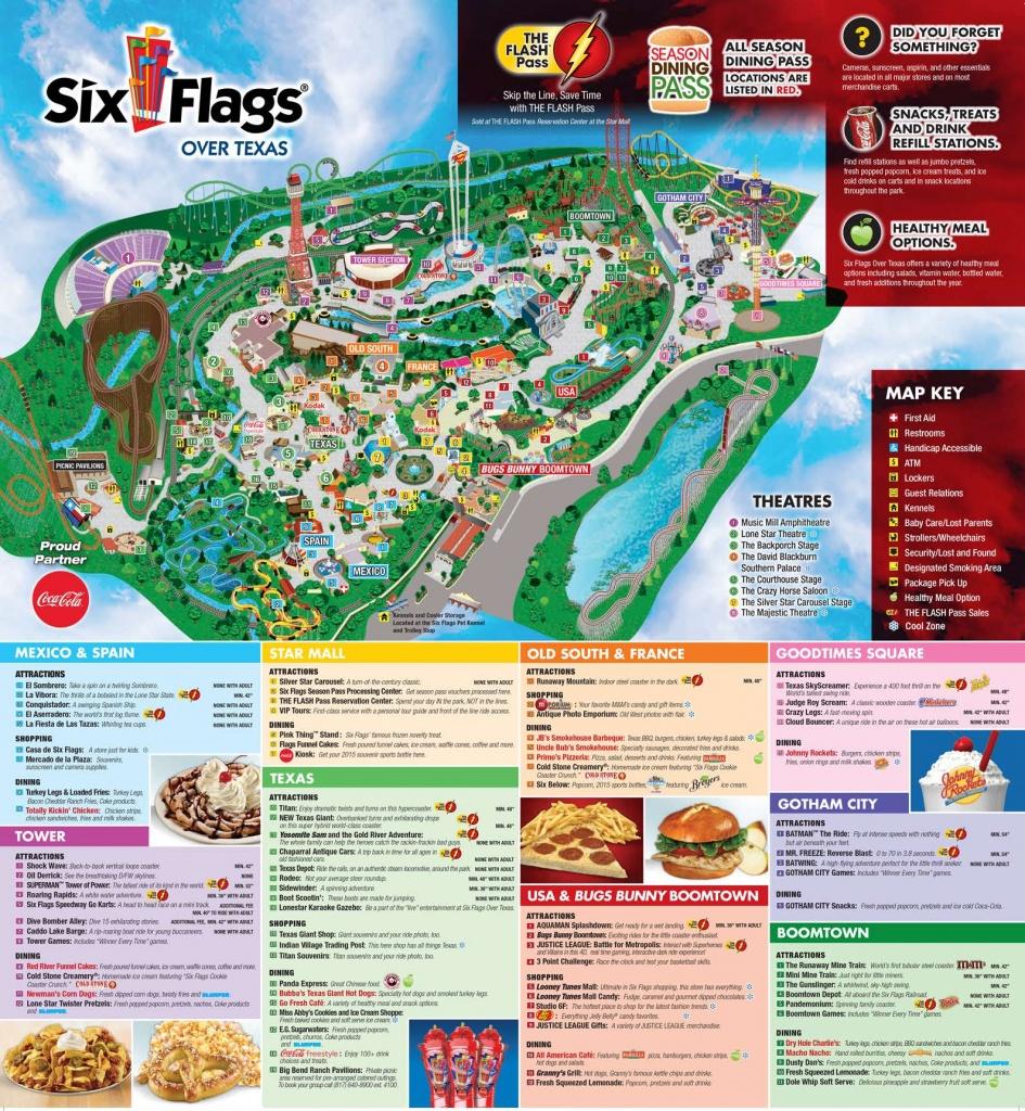 Six Flags Over Texas Map | Sitedesignco - Six Flags Fiesta Texas Map 2018