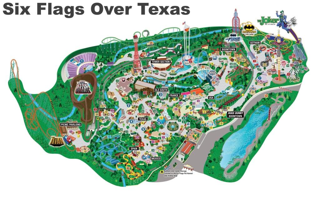 Six Flags Over Texas Map - Six Flags Over Texas Map