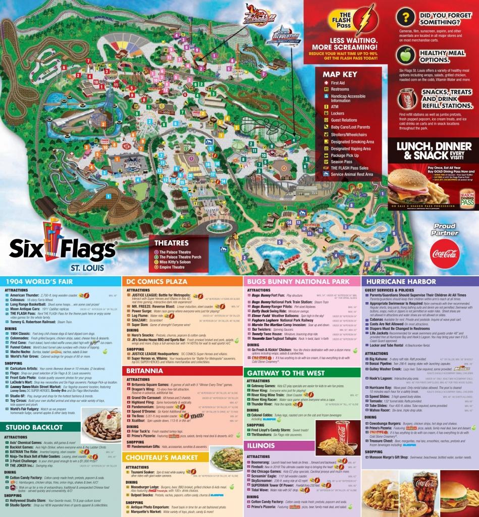 Six Flags St. Louis Park Map - Six Flags Map California 2018