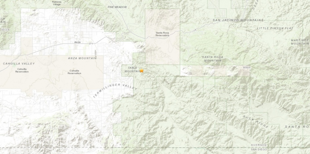 Small Earthquake Strikes Near Ribbonwood In Riverside County – Press - Printable Map Of Riverside County