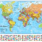 Small Printable World Map | Europe Centred Maps International - Small World Map Printable