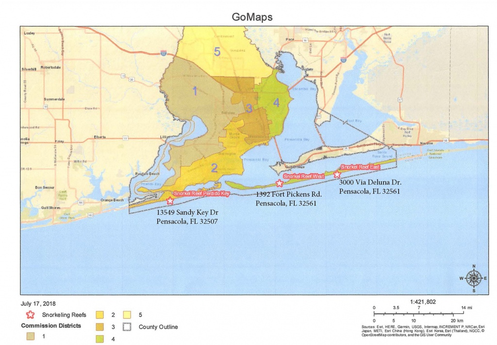 Snorkeling Reefs - Map Of Escambia County Florida
