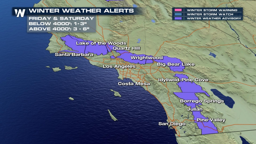 Snow In Southern California? Really. - Weathernation - Southern California Weather Map