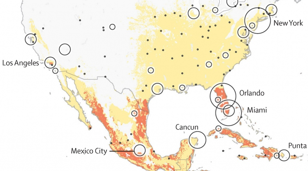 So Far, Zika Is Showing Up In The United States Just Where The - Zika Florida Map