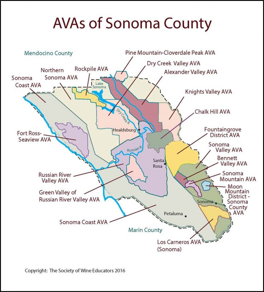 Sonoma – California – Swe Map 2017 – Wine, Wit, And Wisdom - Map Of Sonoma California Area