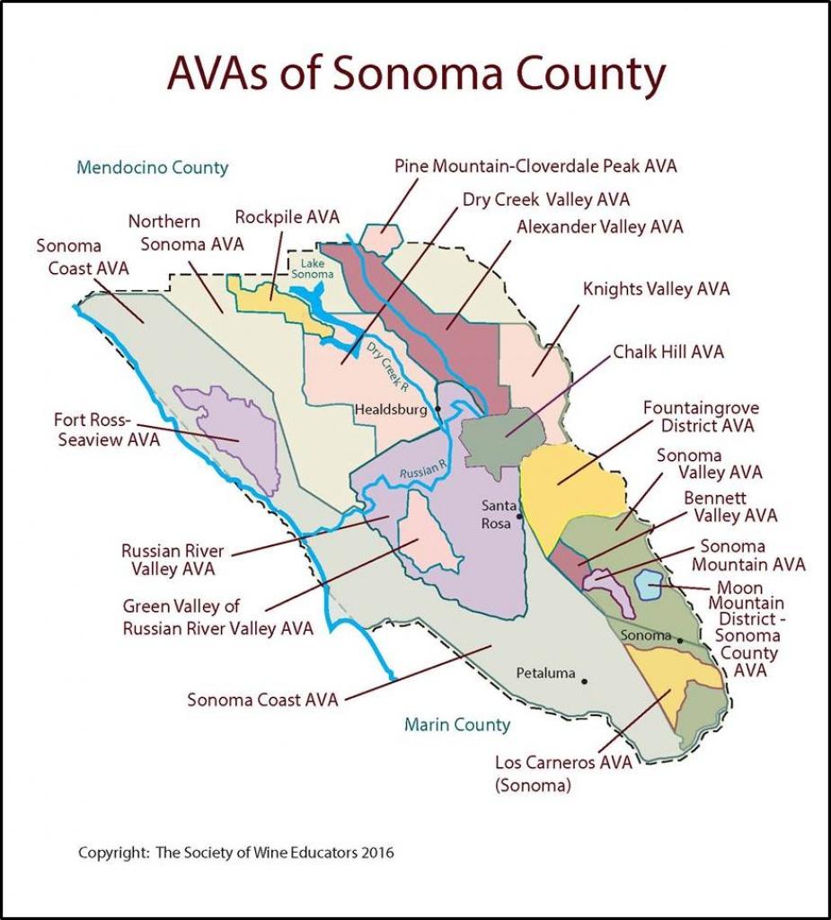 Sonoma – California – Swe Map 2017 – Wine, Wit, And Wisdom - Map Of Sonoma California Area