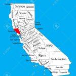 Sonoma County (California, United States Of America) Vector Map   Sonoma California Map