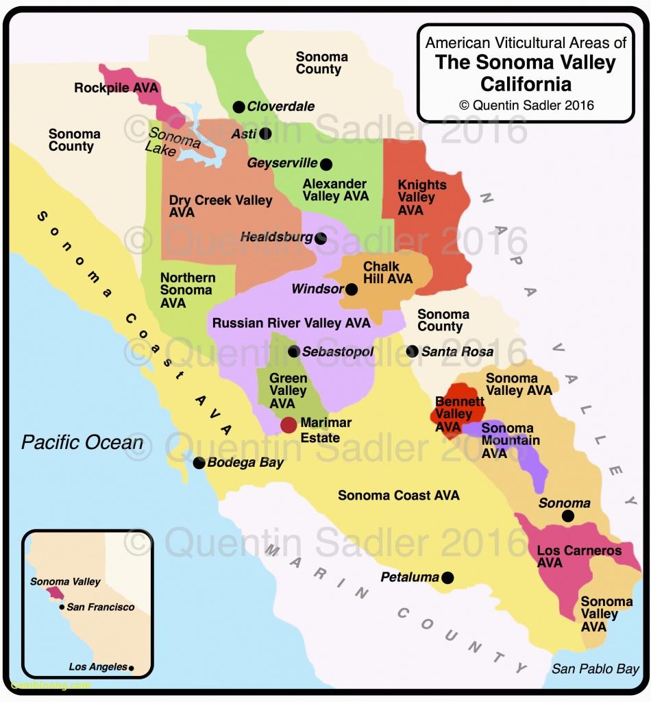 Sonoma Valley California Map | Secretmuseum - Sonoma Valley California Map