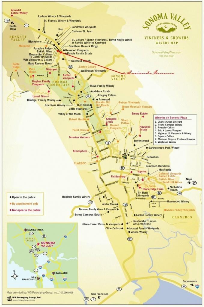 Sonoma Valley Wineries   N A P A   S O N O M A In 2019   Sonoma - Sonoma Wineries Map Printable