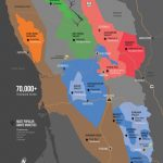 Sonoma Wine Map (Poster) | Wine Folly   California Ava Map
