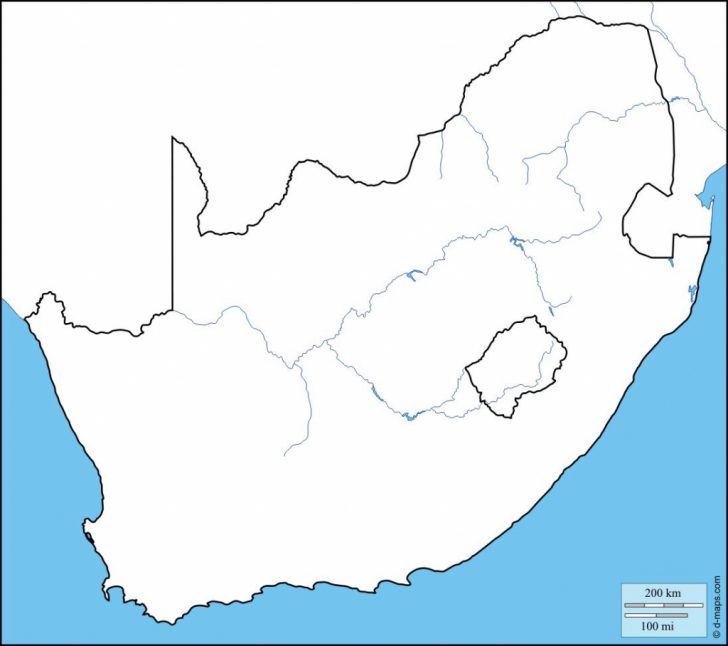 photograph relating to Printable Maps of Africa called printable map of south africa Printable Maps