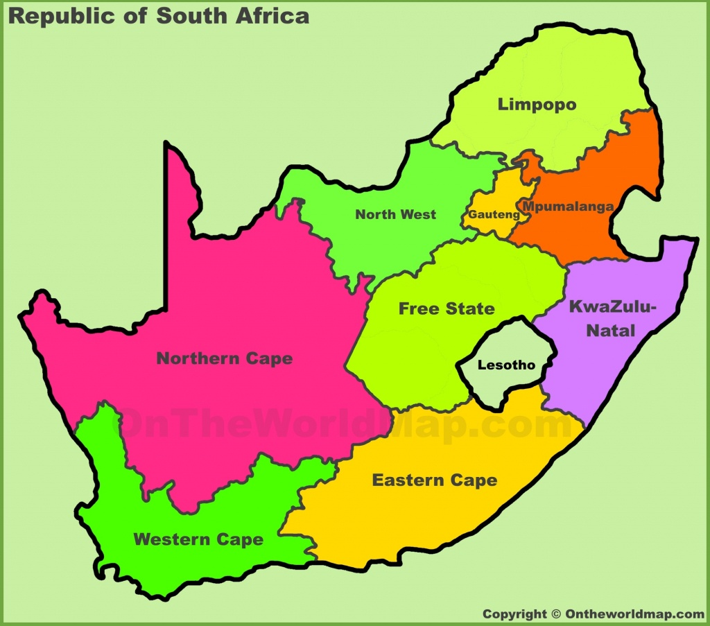 South Africa Maps | Maps Of Republic Of South Africa - Printable Map Of South Africa