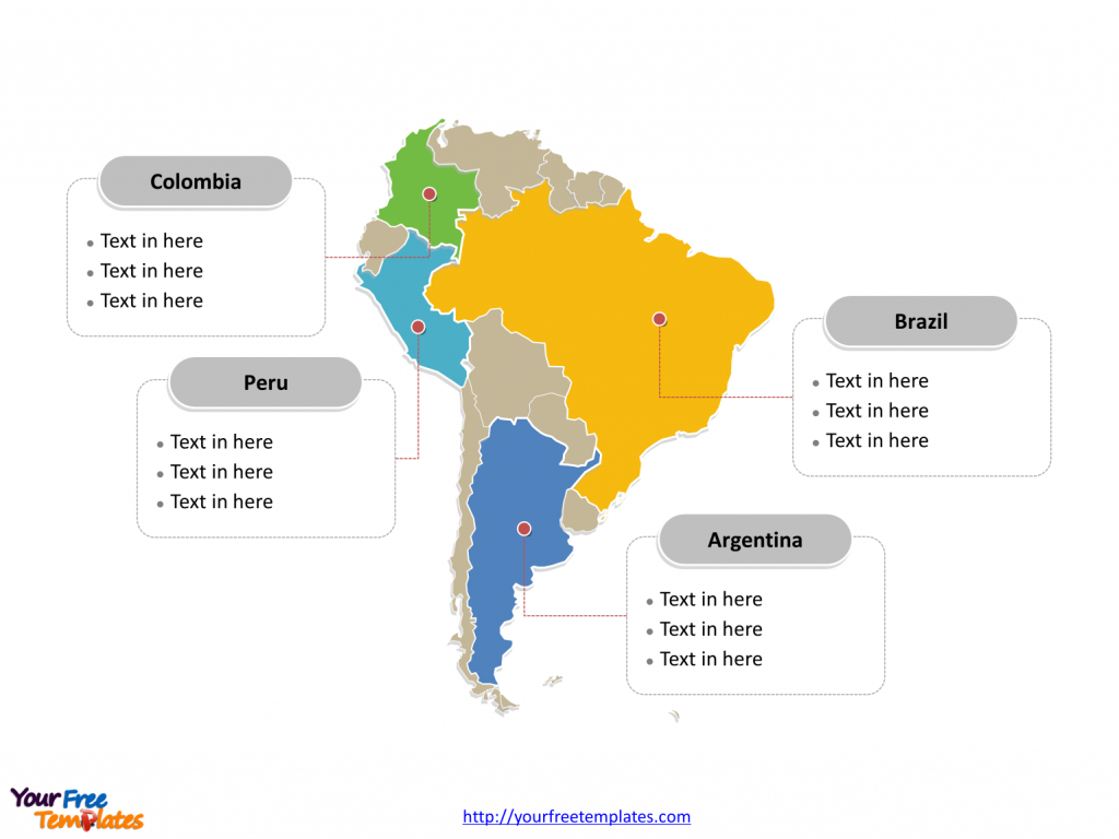 South America Map Free Templates - Free Powerpoint Templates - Free Printable Map Of South America