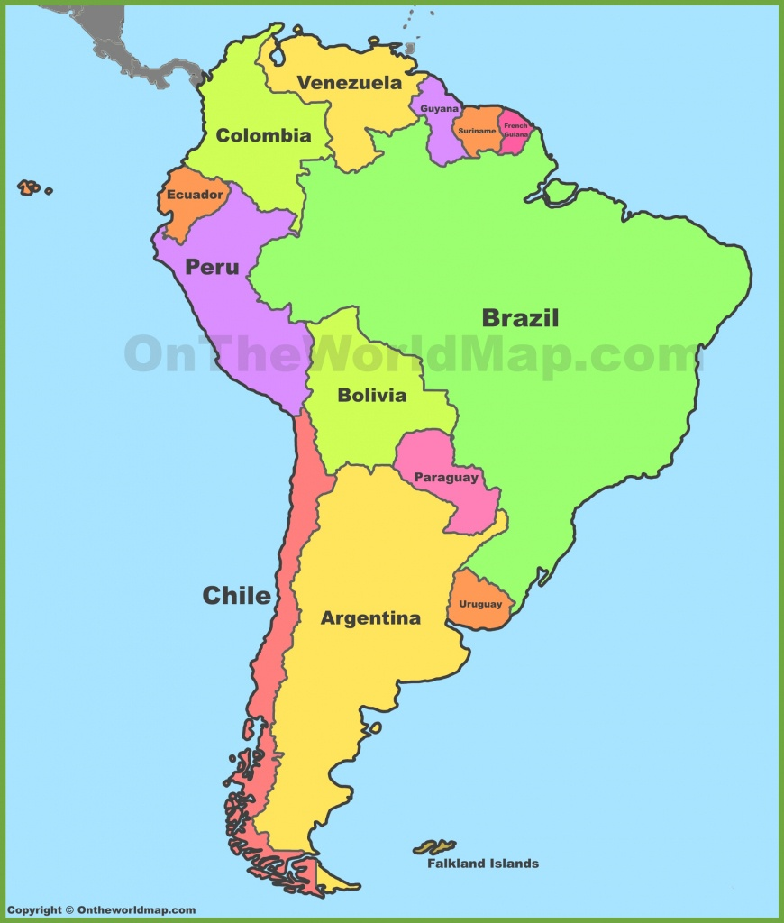 South America Maps | Maps Of South America - Ontheworldmap - Printable Map Of Central And South America