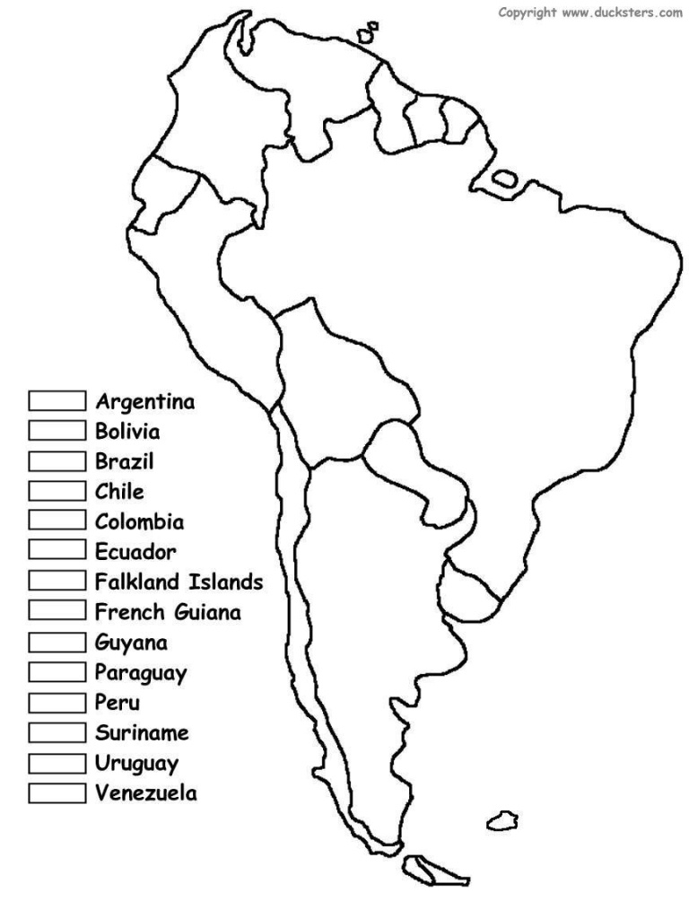South America Unit W/ Free Printables | Homeschooling | Spanish - Free Printable Map Of South America