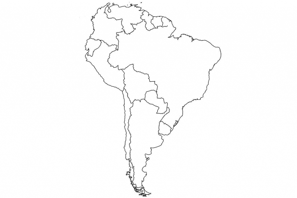 South America Unlabeled Map - Maydan.mouldings.co - South America Outline Map Printable