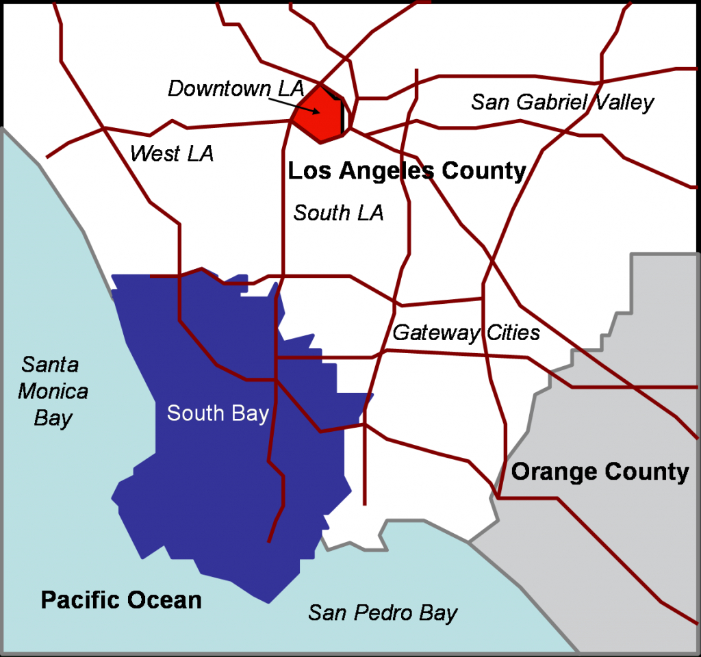 South Bay (Los Angeles County) - Wikipedia - Redondo Beach California Map