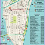 South Beach Restaurant And Sightseeing Map | Miami | South Beach   Map Of South Beach Miami Florida