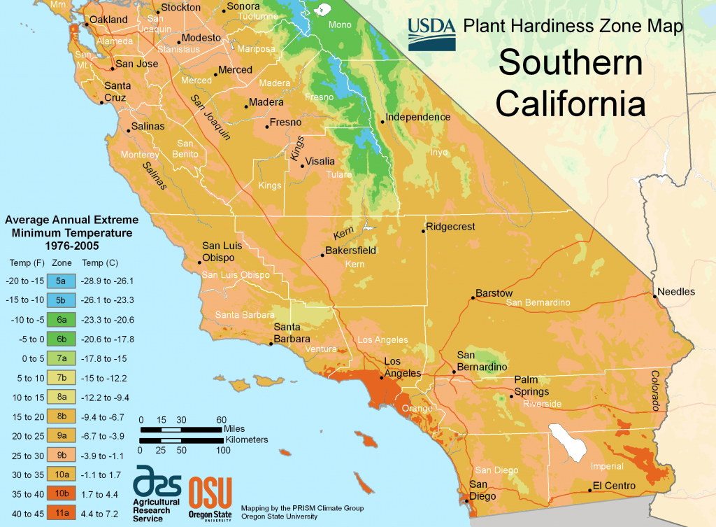 South California Plant Hardiness Zone Map • Mapsof - Growing Zone Map California