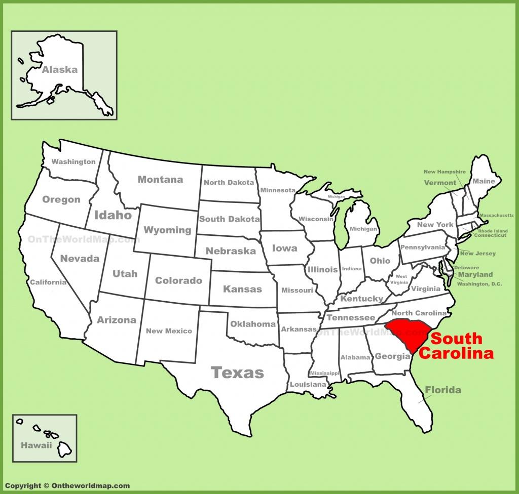 South Carolina State Maps | Usa | Maps Of South Carolina (Sc) - Myrtle Beach Florida Map