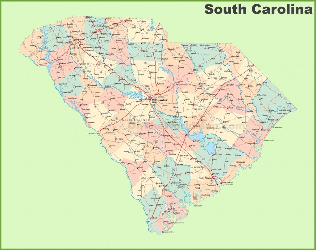 South Carolina State Maps | Usa | Maps Of South Carolina (Sc) - Printable Map Of North Carolina Cities